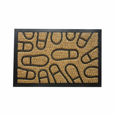 Margery Footprint Doormat Mat Size: 16 x 26
