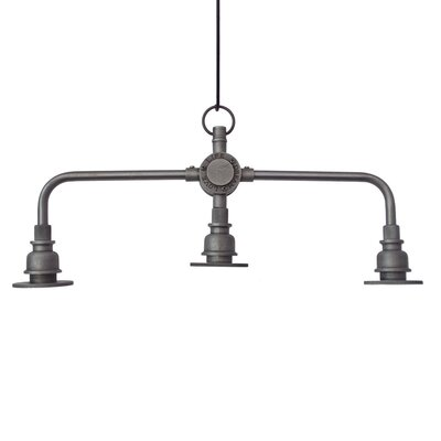Mikhail Industrial 3-Light Kitchen Island Pendant