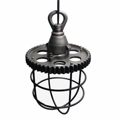 Moriz Industrial 1-Light Foyer Pendant