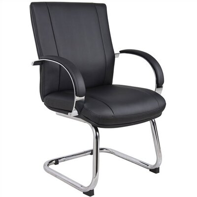 Elektra Guest Chair Base / Fabric Finish: Chrome / Black Product Photo 7268