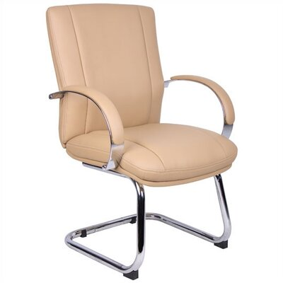 Elektra Guest Chair Base / Fabric Finish: Chrome / Tan Product Photo 7268
