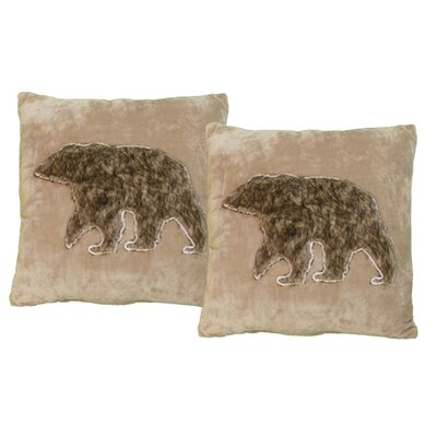 Narvaez Bear Faux Fur Throw Pillow