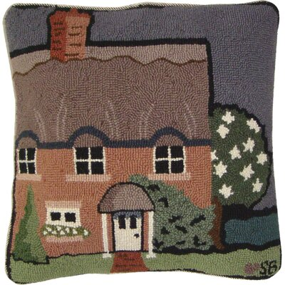 Country House Wool Throw Pillow