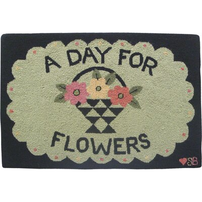 A Day For Flowers Area Rug Rug Size: Rectangle 2 x 3