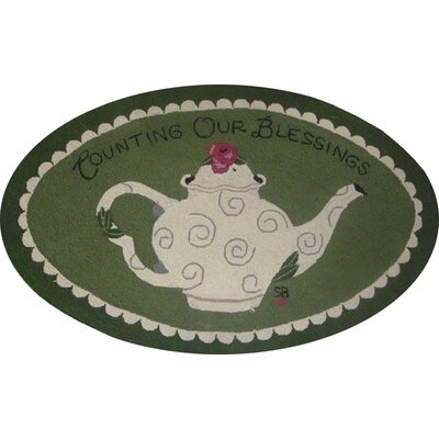 Counting Our Blessings Novelty Rug Rug Size: Oval 26 x 4