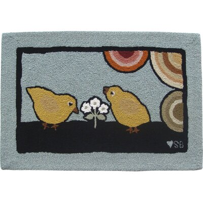 Baby Chicks Area Rug Rug Size: Rectangle 2 x 3