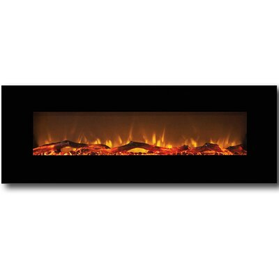 Byrns Wall Mount Steel Electric Fireplace