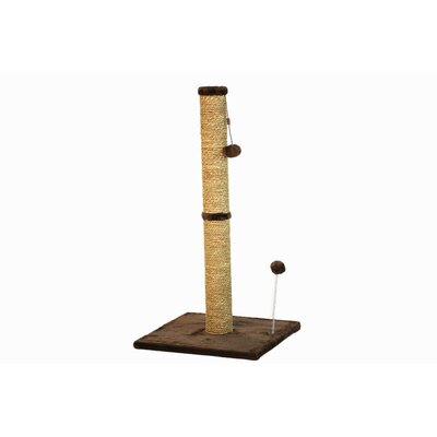 Sea Grass Scratching Post Size: 37.25 H x 16 W x 16 D, Color: Dark Chocolate Fur
