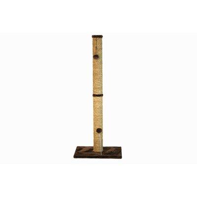 Sea Grass Scratching Post Size: 41.25 H x 16 W x 16 D, Color: Dark Chocolate Fur