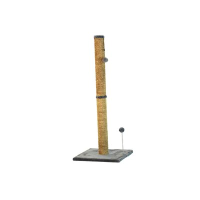 Sea Grass Scratching Post Size: 41.25 H x 16 W x 16 D, Color: Gray Fur