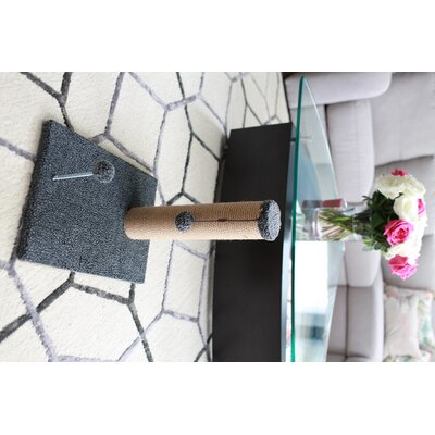 Jute Scratchers and Scratching Post Size: 16.25 H x 12 W x 16 D, Color: Gray