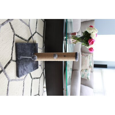 Jute Scratchers and Scratching Post Size: 19.25 H x 12 W x 16, Color: Gray
