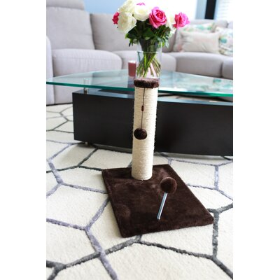 Sisal Scratching Post Size: 19.25 H x 12 W x 16 D, Color: Dark Chocolate