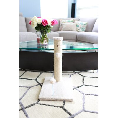 Linneman Scratching Post Size: 21.25 H x 12 W x 16 D, Color: Beige