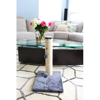 Linneman Scratching Post Size: 21.25 H x 12 W x 16 D, Color: Gray