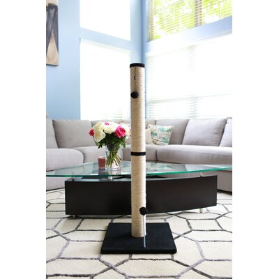 Linneman Scratching Post Size: 31.25 H x 16 W x 16 D, Color: Charcoal