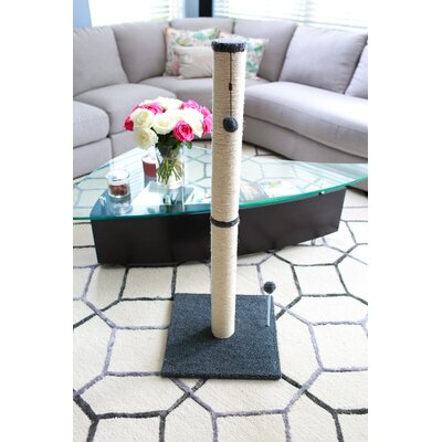 Linneman Scratching Post Size: 37.25 H x 16 W x 16 D, Color: Gray
