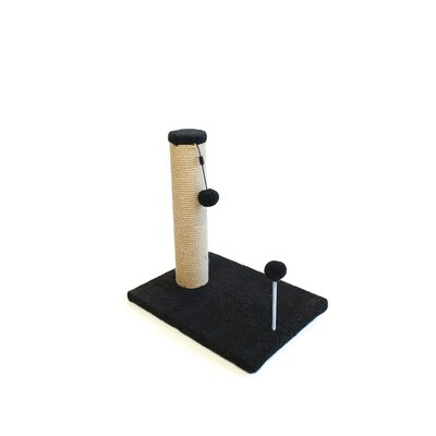 Jute Scratchers and Scratching Post Size: 21.25 H x 12 W x 16 D, Color: Charcoal