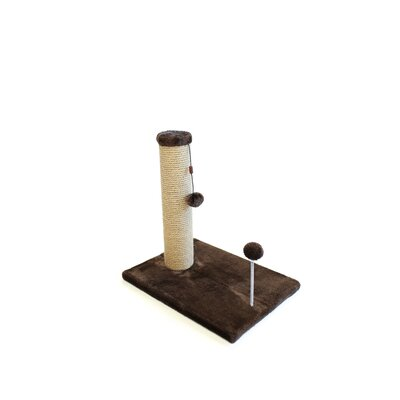 Linzy Jute Scratchers and Scratching Post Size: 21.25 H x 12 W x 16 D, Color: Dark Chocolate