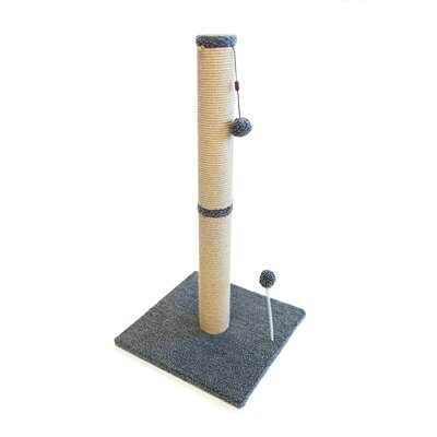 Jute Scratchers and Scratching Post Size: 37.25 H x 16 W x 16 D, Color: Gray