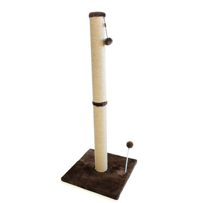 Lintz Jute Scratchers and Scratching Post Size: 41.25 H x 16 W x 16 D, Color: Dark Chocolate