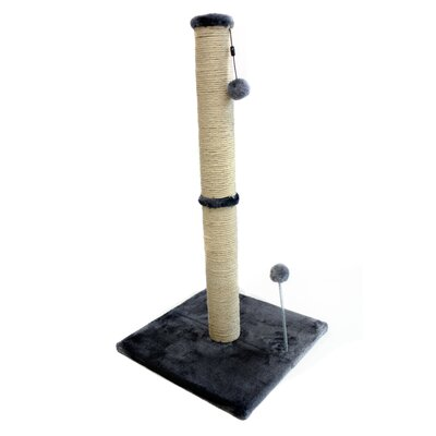 Sisal Scratching Post Size: 31.25 H x 16 W x 16 D, Color: Gray
