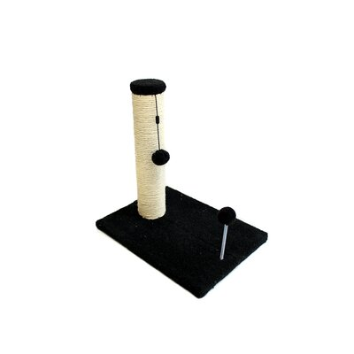 Sisal Scratching Post Size: 16.25 H x 12 W x 16 D, Color: Charcoal