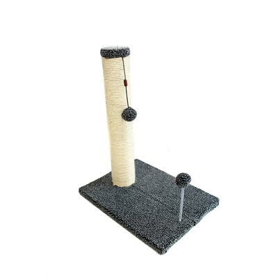 Sisal Scratching Post Size: 19.25 H x 12 W x 16 D, Color: Gray