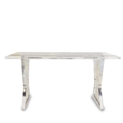 Melody Acrylic Console Table Color: Clear