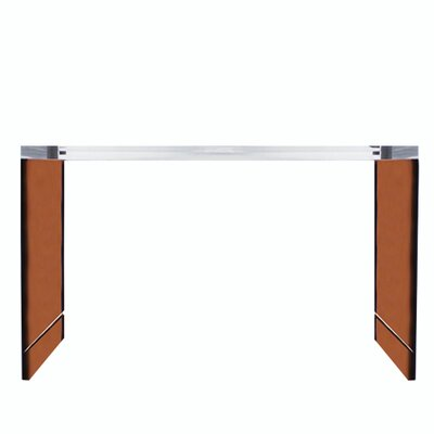 Seymour Acrylic Console Table Color: Orange