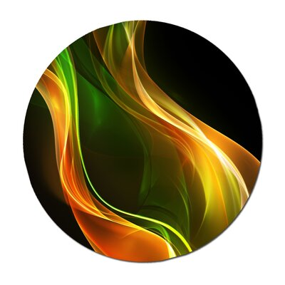 "'Emerald Flame' Graphic Art Print Size: 24"" H x 24"" W Abstract Emerald Flame 24x24"