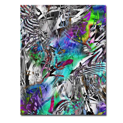 "'Psychdelic' Graphic Art Print on Glass Size: 20"" H x 16"" W Abstract Art ""Psychdelic"" 16x20"