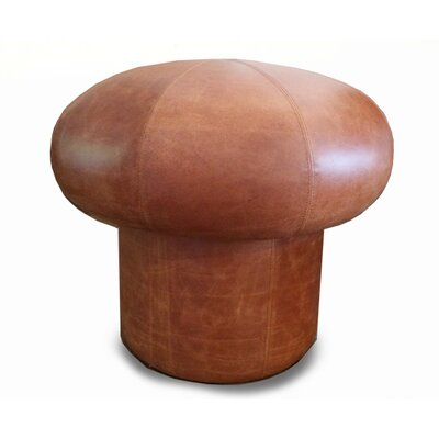 Mushroom Leather Ottoman Upholstery: Iguana Golden Brown