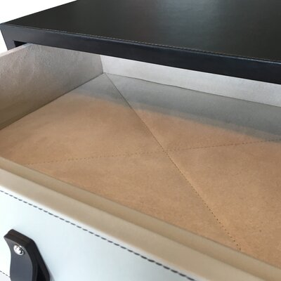 Leather 1 Drawer Nightstand Color: Plain Tan