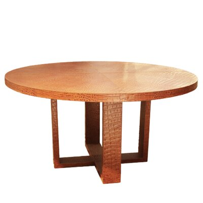 Leather Dining Table Color: Hair-on-Hide Tan