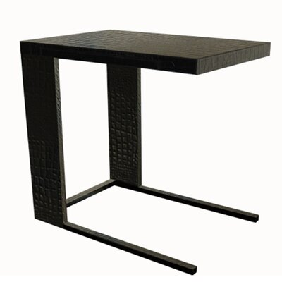 Leather End Table Color: Crocodile Black
