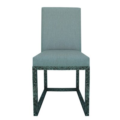 Fish Skin Side Chair Upholstery: Black, Finish: Bali Fish Skin