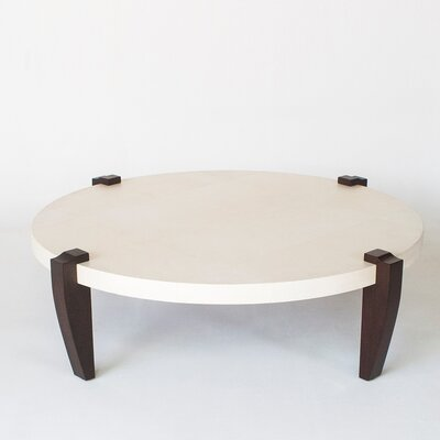 Coffee Table Base Color: Parchment - Natural, Leg Color: Bamboo - Burnt Red
