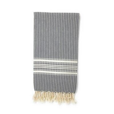 Classic Pestemal Fouta Turkish Beach Towel Color: Charcoal