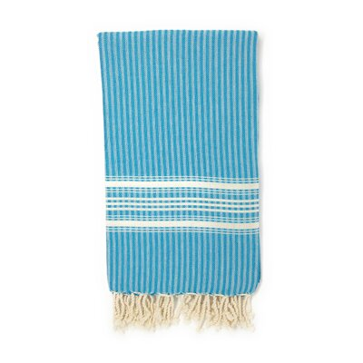 Classic Pestemal Fouta Turkish Beach Towel Color: Blue