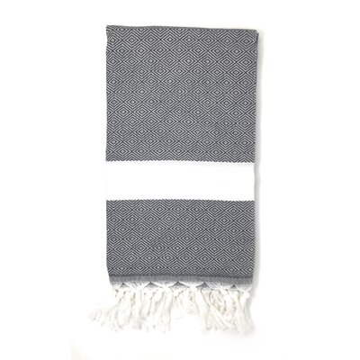 Striped Pestemal Turkish Beach Towel Color: Charcoal