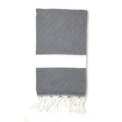 Striped Pestemal Turkish Beach Towel Color: Charcoal