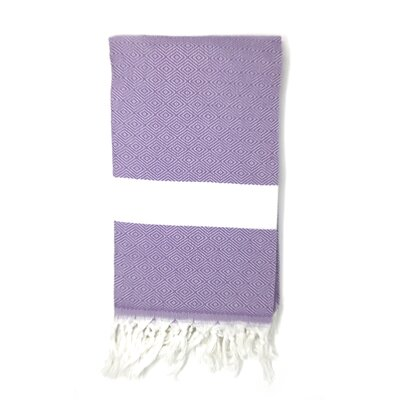 Striped Pestemal Turkish Beach Towel Color: Purple