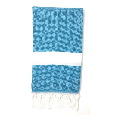 Striped Pestemal Turkish Beach Towel Color: Turquoise