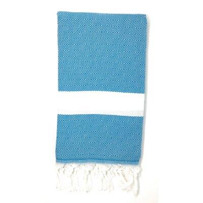 Striped Pestemal Turkish Beach Towel Color: Turquoise