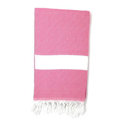 Striped Pestemal Turkish Beach Towel Color: Pink