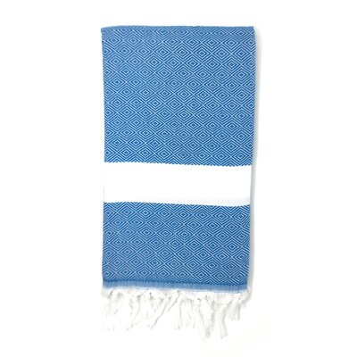 Striped Pestemal Turkish Beach Towel Color: Ocean Blue