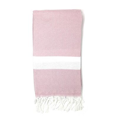 Striped Pestemal Turkish Beach Towel Color: Baby Pink