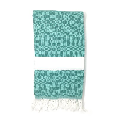 Striped Pestemal Turkish Beach Towel Color: Light Green