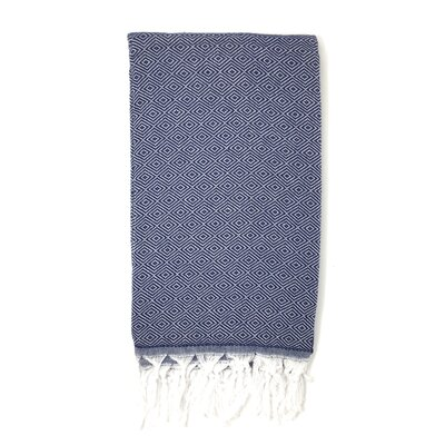 Solid Pestemal Turkish Beach Towel Color: Navy Blue